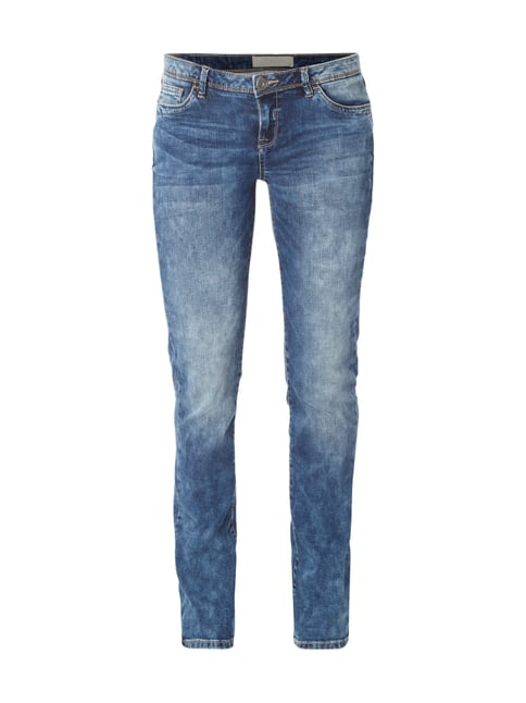 Double Stone Washed Casual Fit Jeans Blau / Türkis - 1