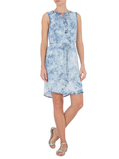 Street One Kleid aus Lyocell mit Moon Wash in Blau / Türkis - 1