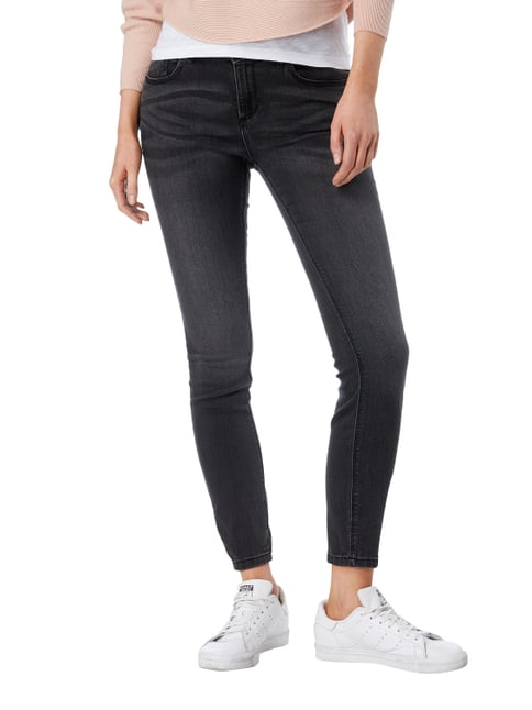 Street One Stone Washed Slim Fit Jeans Mittelgrau - 1