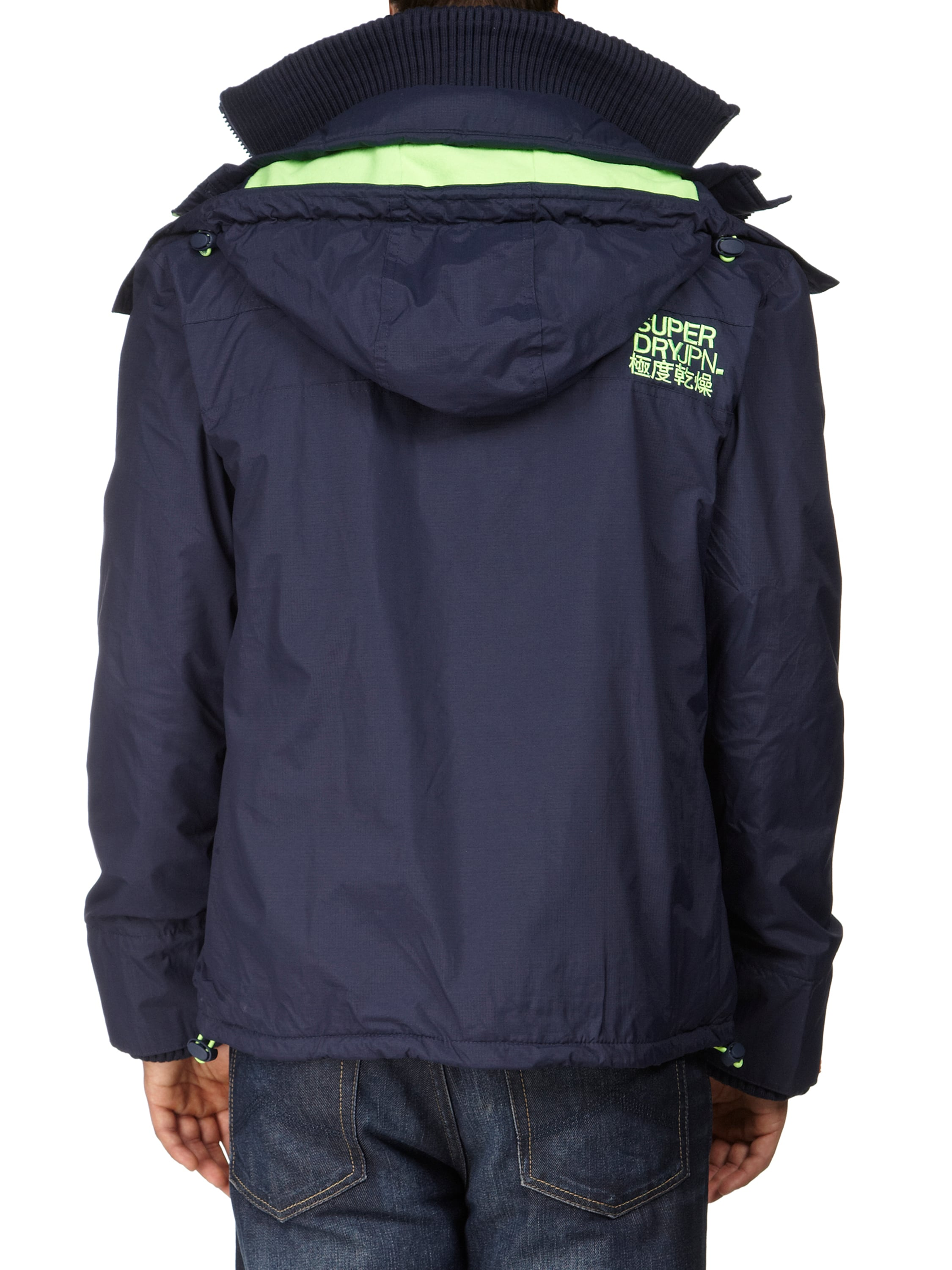 superdry arctic windcheater windbreaker mit kapuze in blau. Black Bedroom Furniture Sets. Home Design Ideas