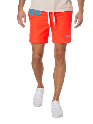Superdry Badeshorts mit Kontraststickerei Orange - 1