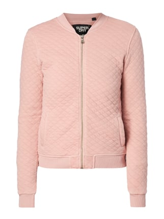 Bomber mit Steppmuster Rosé - 1