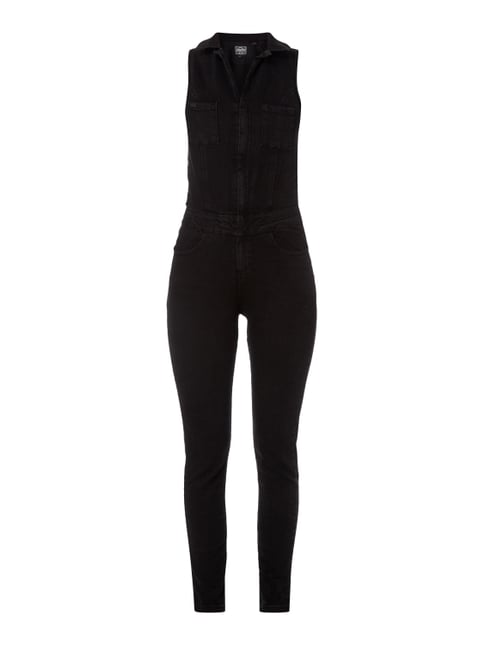 Jumpsuit aus Coloured Denim Grau / Schwarz - 1