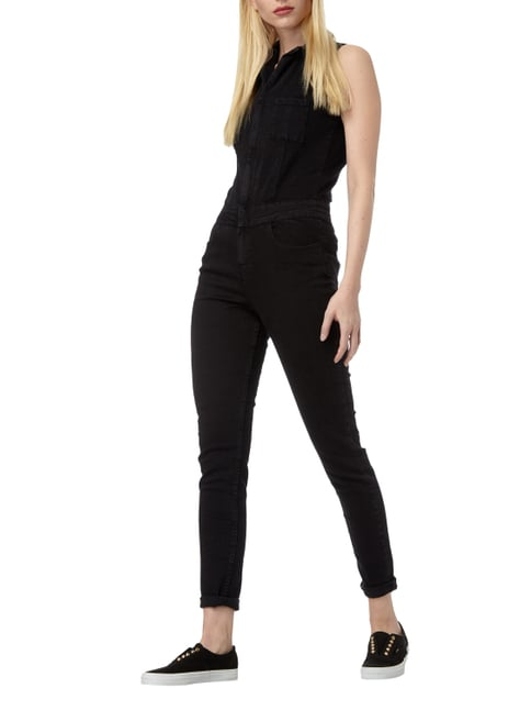 Superdry Jumpsuit aus Coloured Denim in Grau / Schwarz - 1