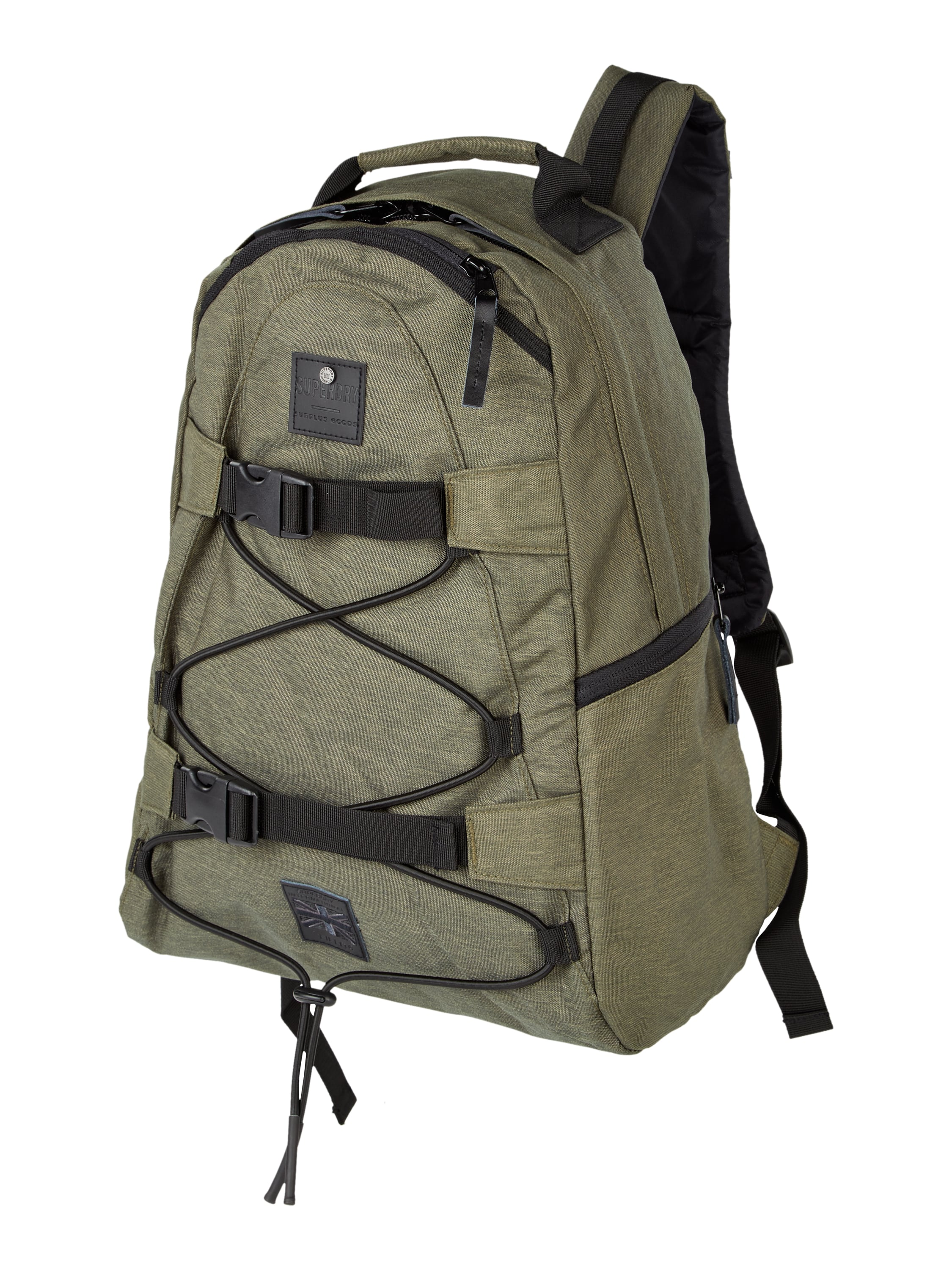 superdry rucksack in melangeoptik in gr n online kaufen. Black Bedroom Furniture Sets. Home Design Ideas