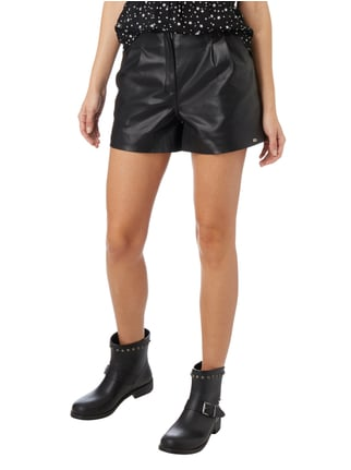 Superdry Shorts in Lederoptik Schwarz - 1