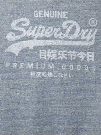 Superdry Sweatshirt mit Logo-Print im Washed Out Look Hellblau meliert - 1