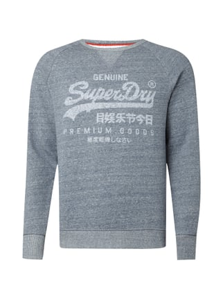 Sweatshirt mit Logo-Print im Washed Out Look Blau / Türkis - 1
