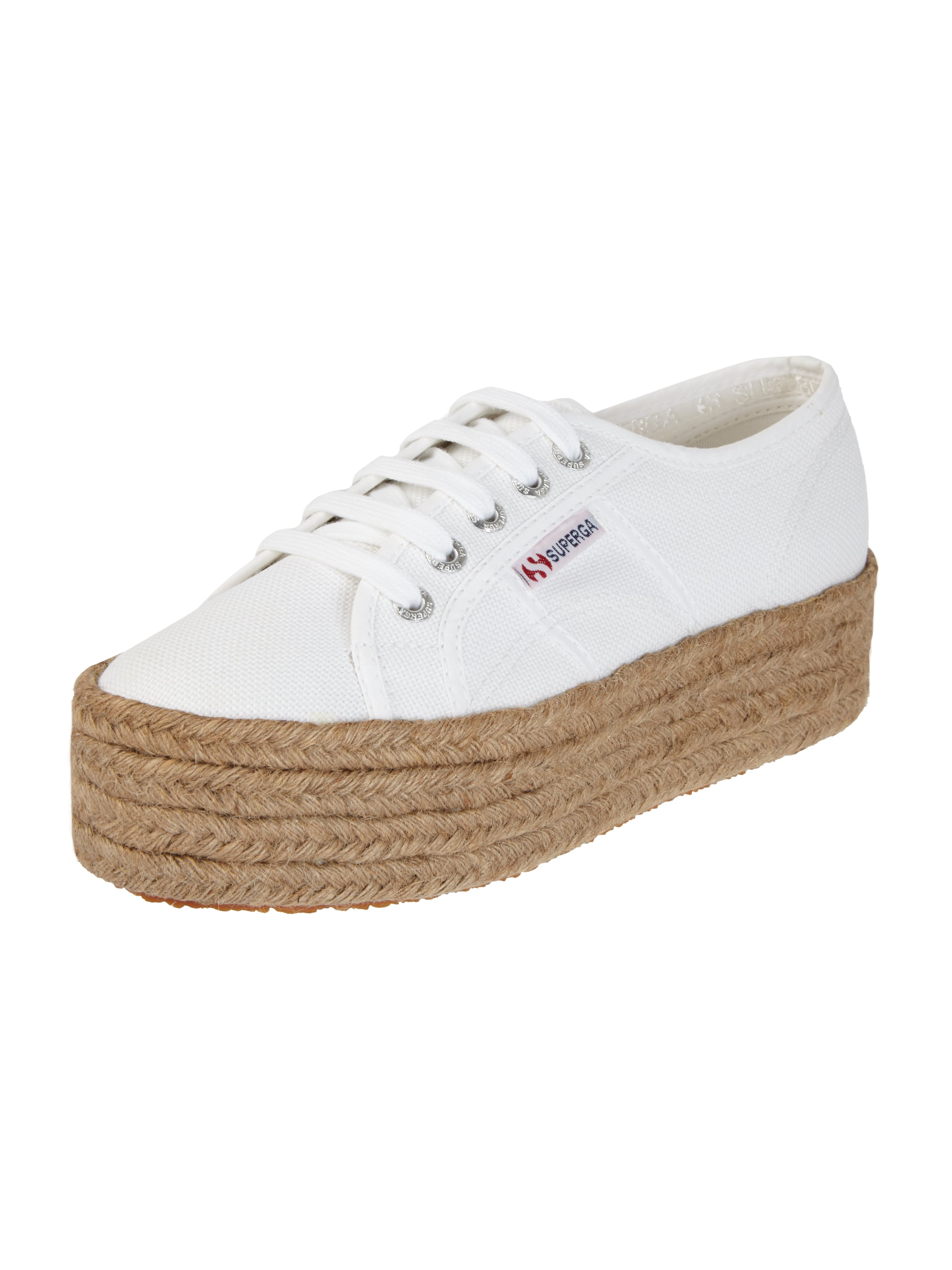 superga plateau sneaker aus canvas in wei online kaufen 9613092 p c online shop. Black Bedroom Furniture Sets. Home Design Ideas