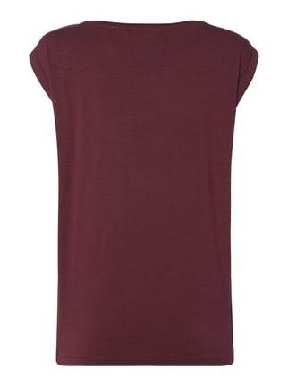 Supertrash Jerseyshirt mit Message in Metallicoptik Bordeaux Rot - 1