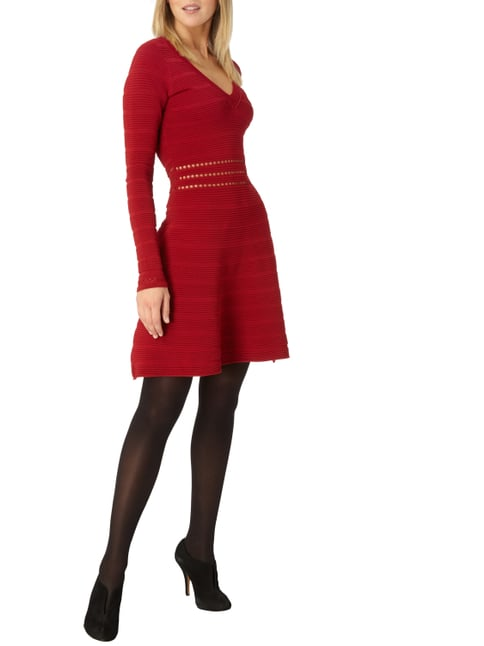 Supertrash Kleid mit Rippenstruktur in Rot - 1
