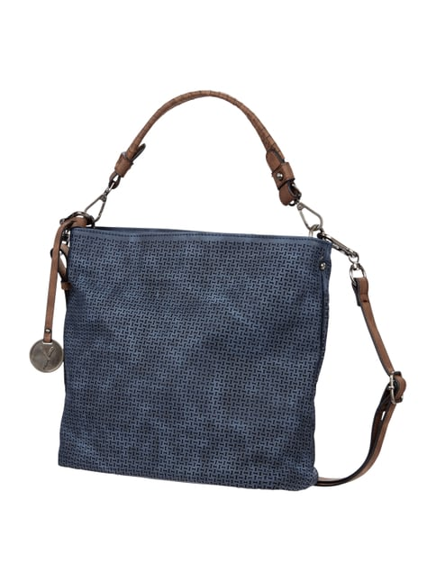 Hobo Bag mit Perforationen Blau / Türkis - 1