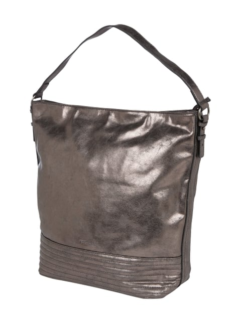 Hobo Bag in Metallicoptik Grau / Schwarz - 1
