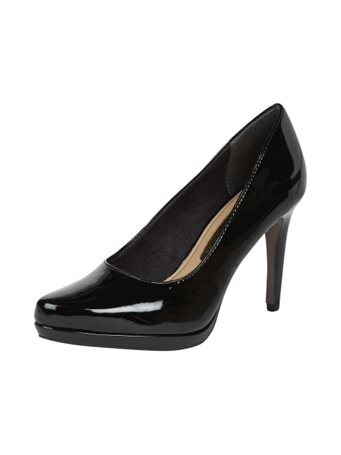 Plateau-Pumps in Lack-Optik Grau / Schwarz - 1