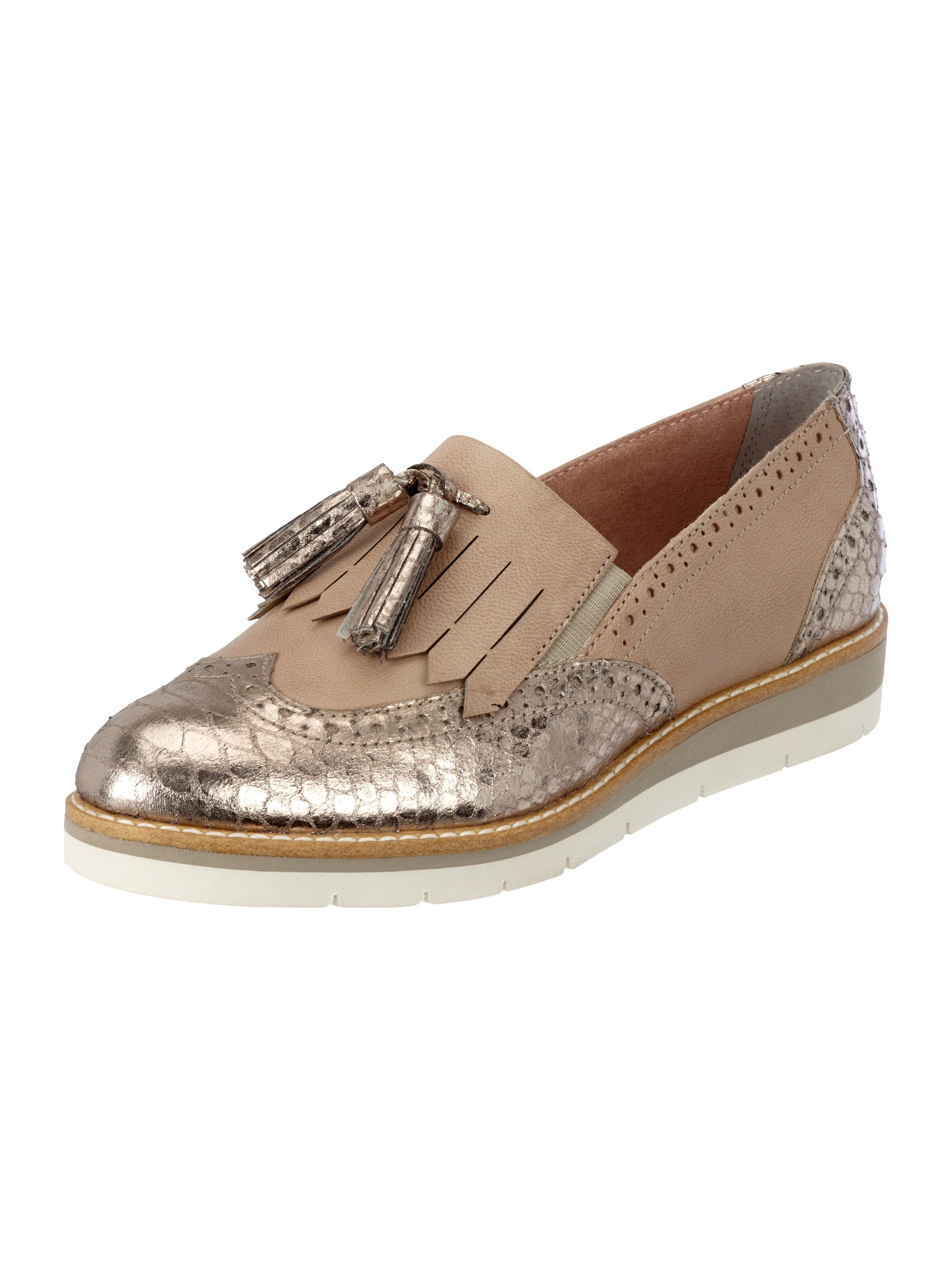 tamaris tassel loafer mit metallic details in ros online kaufen 9634208 p c online shop. Black Bedroom Furniture Sets. Home Design Ideas