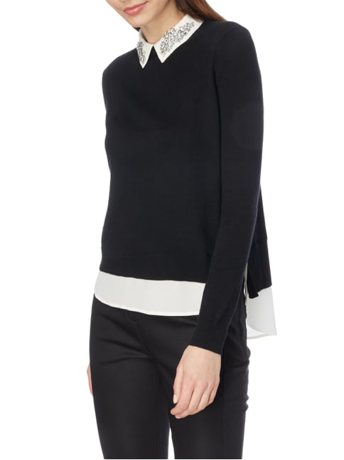 Ted Baker Pullover im Double-Layer-Look Schwarz - 1