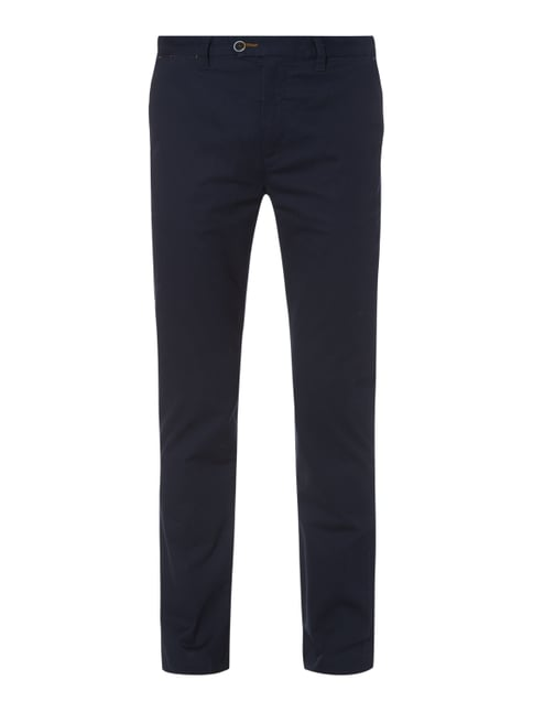 Slim Fit Chino mit Allover-Muster Blau / Türkis - 1