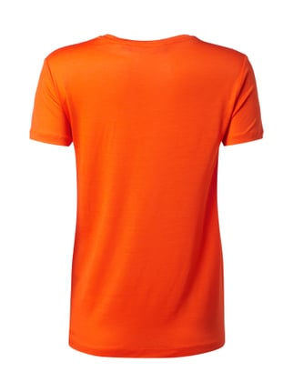 Tiger Of Sweden T-Shirt aus Lyocell mit Saum in Knotenoptik Orange - 1