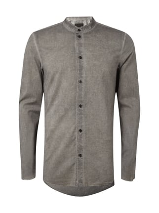 Slim Fit Hemd im Washed Out Look Grau / Schwarz - 1