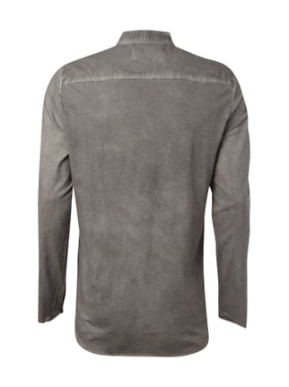 Tigha Slim Fit Hemd im Washed Out Look Mittelgrau - 1