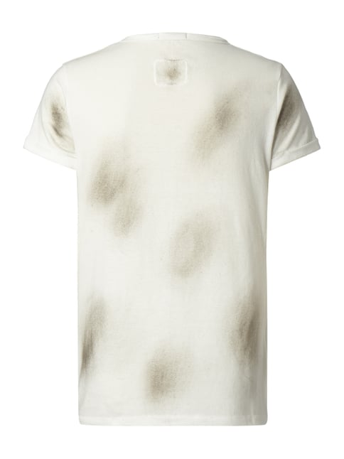 Tigha T-Shirt im Used Look Offwhite - 1