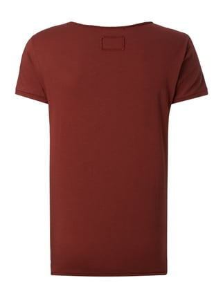 Tigha T-Shirt im Vintage Look Rot - 1