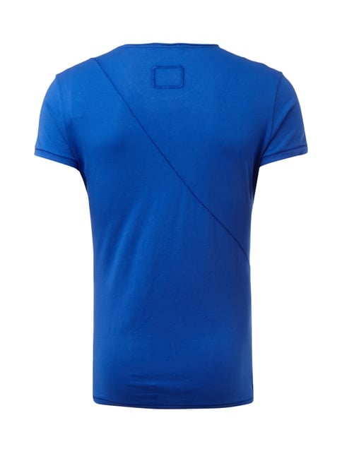 Tigha T-Shirt mit dekorativen Nähten Royalblau - 1