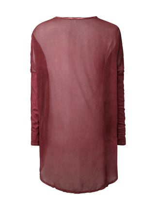 Tigha Vokuhila Shirt im Washed Out Look Bordeaux Rot - 1