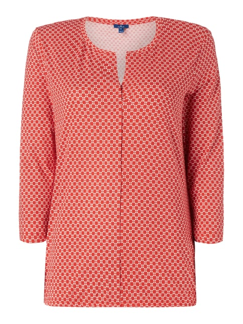 Blusenshirt mit Allover-Muster Rot - 1