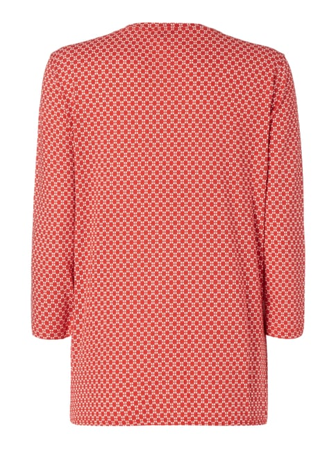 Tom Tailor Blusenshirt mit Allover-Muster Rot - 1