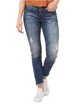 Tom Tailor Denim Anti Fit Destroyed Jeans mit Knopfleiste Jeans - 1
