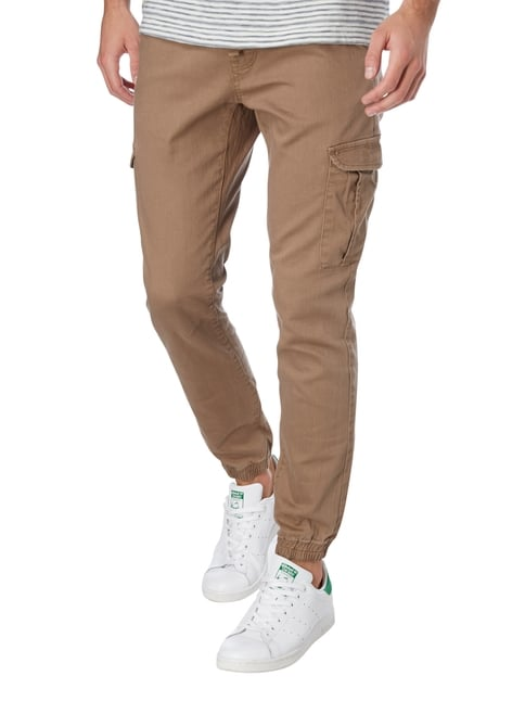 Tom Tailor Denim Cargohose mit Tunnelzug Sand - 1