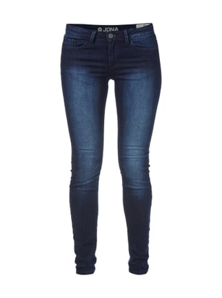Extra Skinny Fit Stone Washed Jeans Blau / Türkis - 1