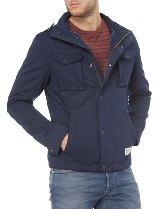 Tom Tailor Denim Jacke im Washed Out Look Marineblau - 1