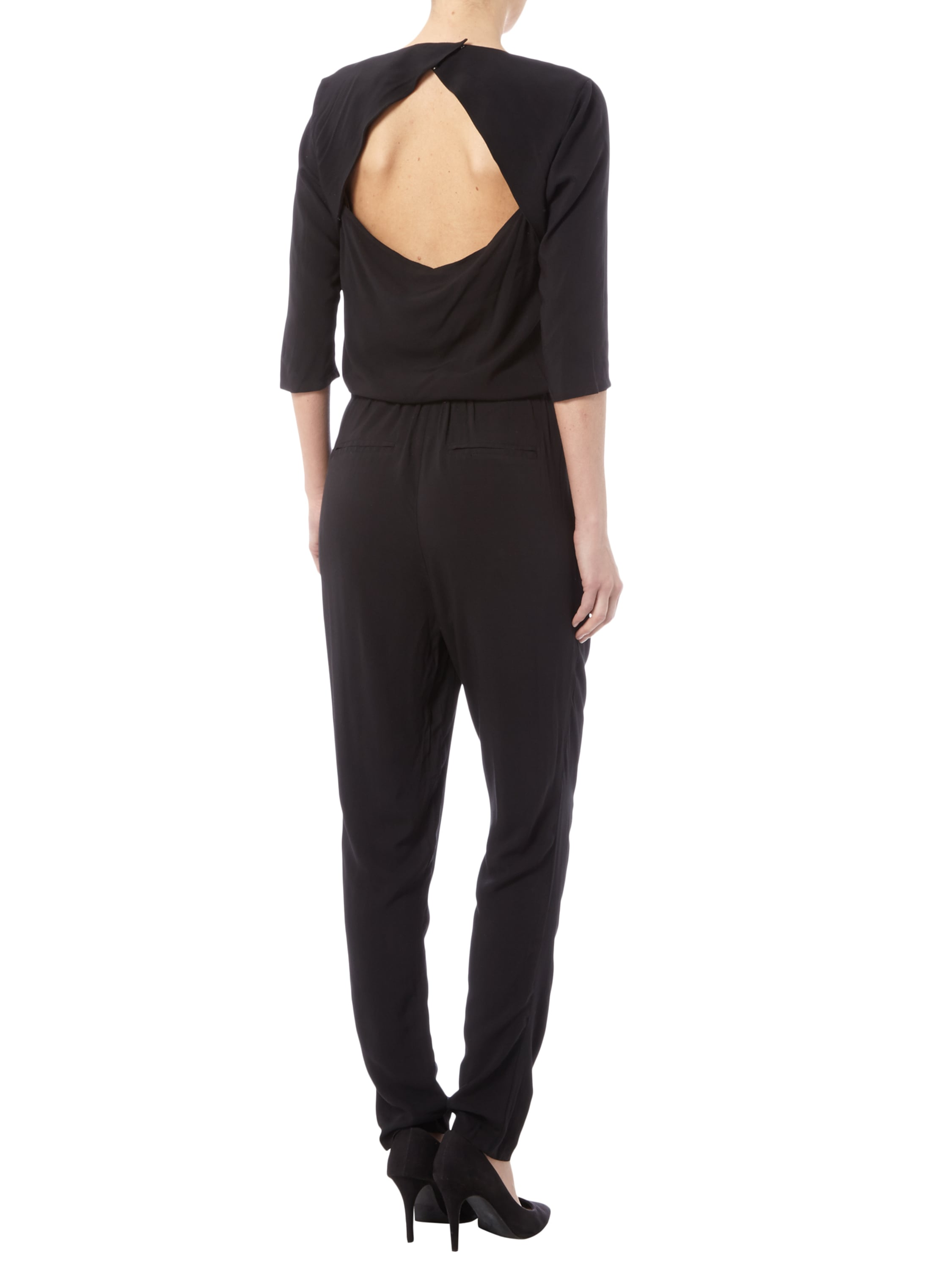 jumpsuit aus viskose mit r ckenausschnitt fashion id online shop. Black Bedroom Furniture Sets. Home Design Ideas