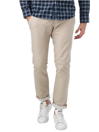 Tom Tailor Denim Regular Fit Chino inklusive Gürtel Offwhite - 1