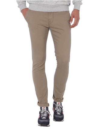 Tom Tailor Denim Skinny Fit Chino mit Gürtel Beige - 1