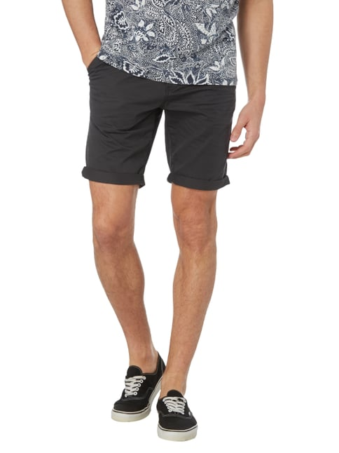 Tom Tailor Denim Slim Fit Chinoshorts aus Baumwolle Mittelgrau - 1