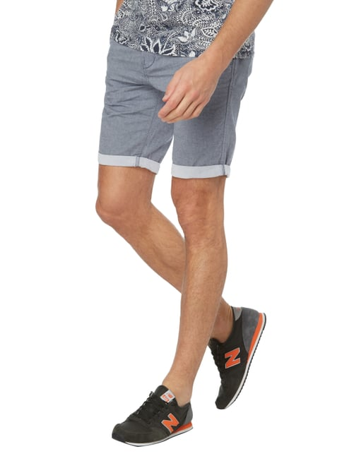 Tom Tailor Denim Slim Fit Chinoshorts mit Gürtel Hellblau - 1