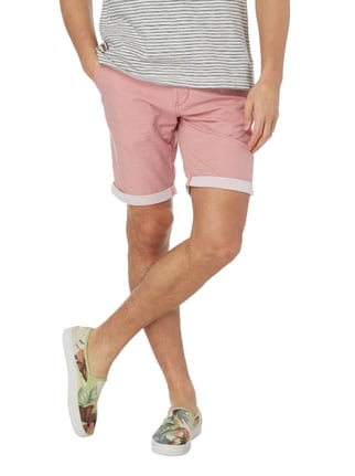 Tom Tailor Denim Slim Fit Chinoshorts mit Gürtel Hellrot - 1