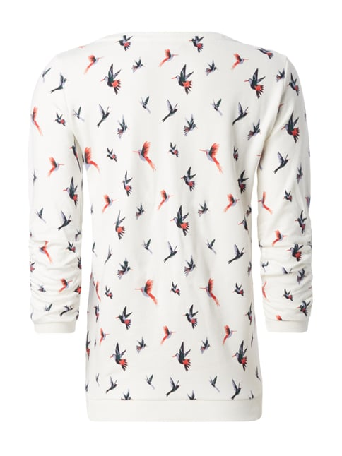 Tom Tailor Denim Sweatshirt mit Vogel-Print Offwhite - 1