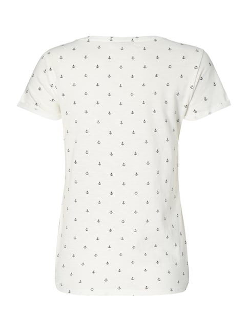 Tom Tailor Denim T-Shirt mit Ankermuster Offwhite - 1
