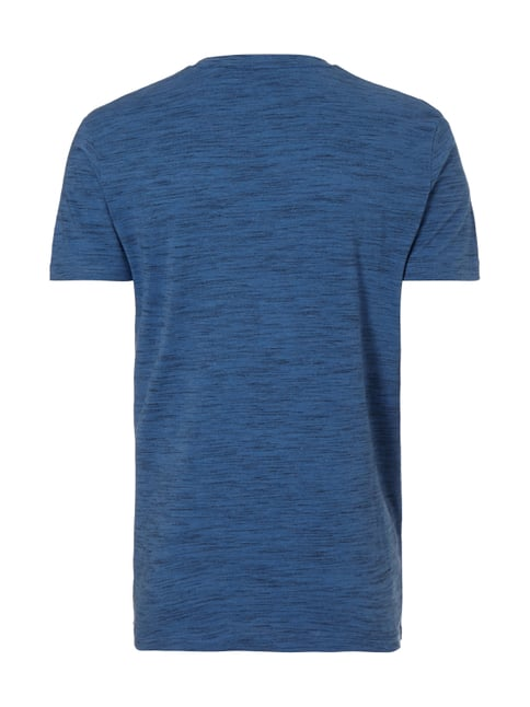Tom Tailor Denim T-Shirt mit Logo-Print Hellblau meliert - 1