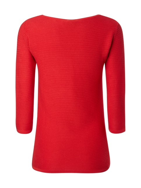 Tom Tailor Pullover im Rippenstrick Rot - 1
