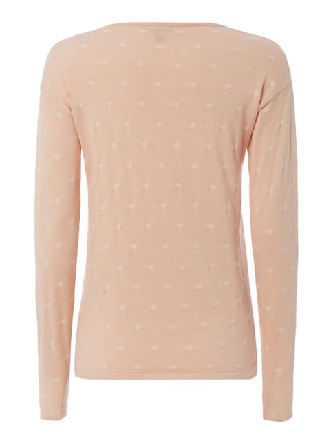 Tom Tailor Pullover mit Punktemuster Rosé - 1
