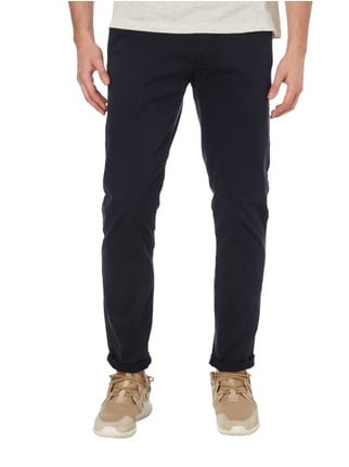 Tom Tailor Regular Fit Chino mit Gürtel Marineblau - 1