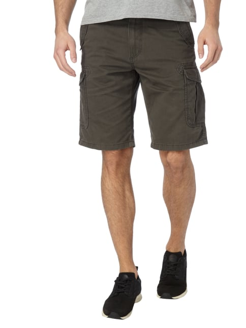 Tom Tailor Relaxed Fit Cargobermudas aus Baumwolle Anthrazit - 1