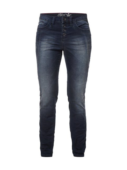 Relaxed Fit Stone Washed Jeans Blau / Türkis - 1