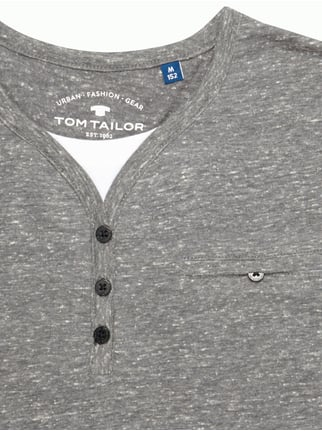 Serafino-Shirt im Double-Layer-Look Tom Tailor online kaufen - 1