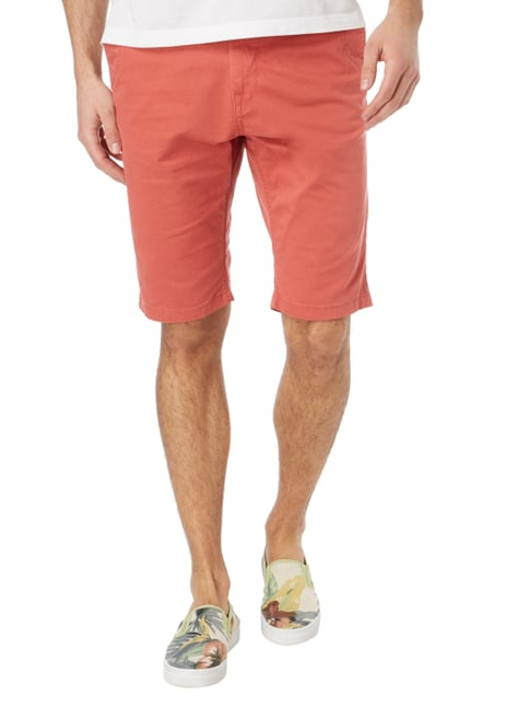 Tom Tailor Slim Fit Chinoshorts mit Gürtel Koralle - 1
